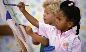two_little_black_girls_painting